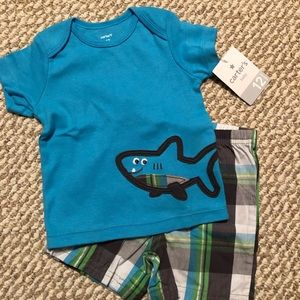 Baby Boy Carters Shorts Set NWT!